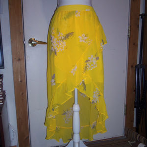 A New Day High Low Ruffled Skirt M
